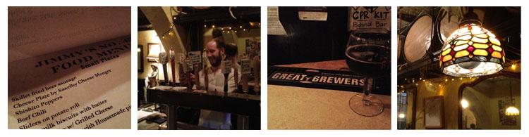 Craft Beer Bar Jimmy's No.43 in der East 7th St. zwischen 2nd und 3rd Ave.