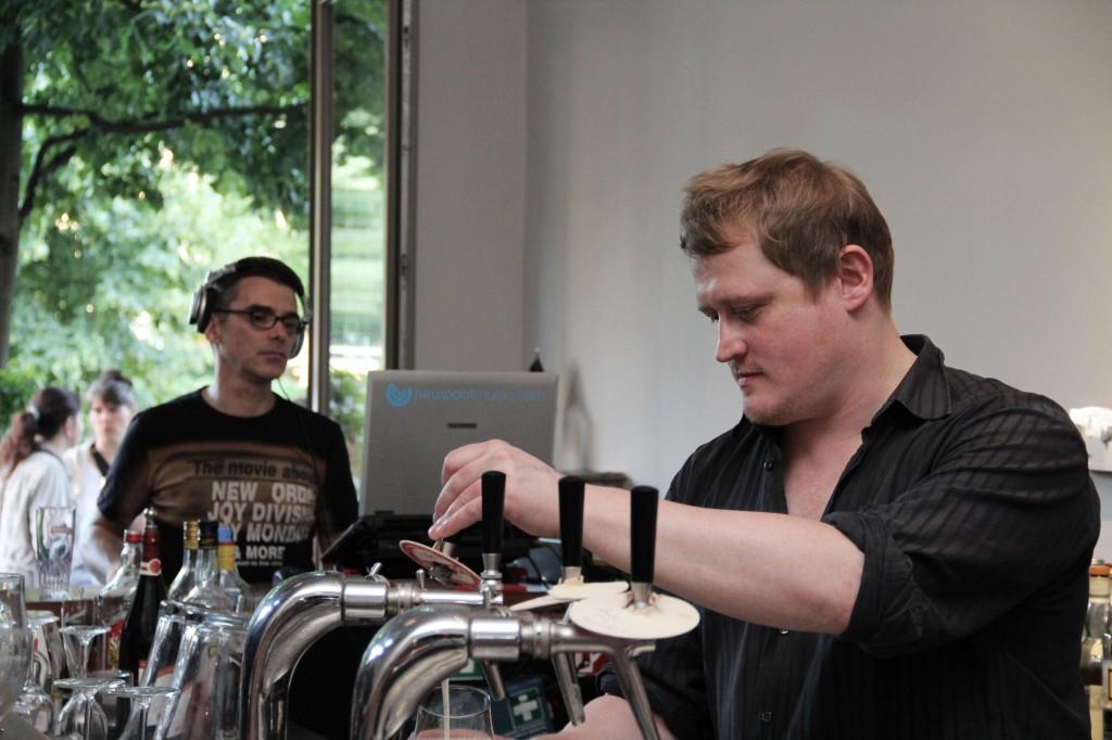 Bart Neirynck in der Belgischen Bierbar Herman