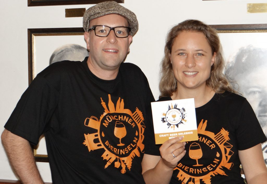 Münchner Bierinseln Veranstalter Holger und Nikola