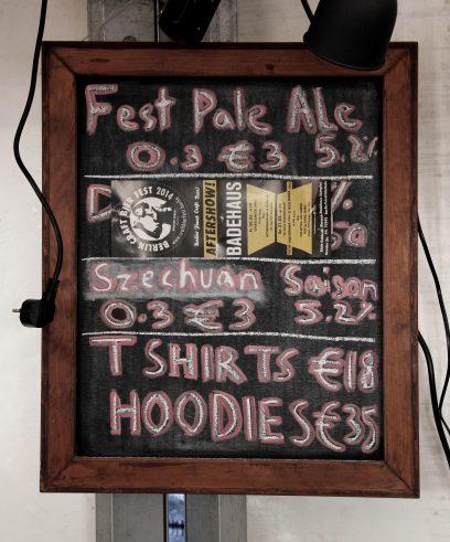 Vagabund Brauerei's Szechuan Saison was voted best beer on Berlin Craft Bier Fest in May 2014 (Foto: StP)
