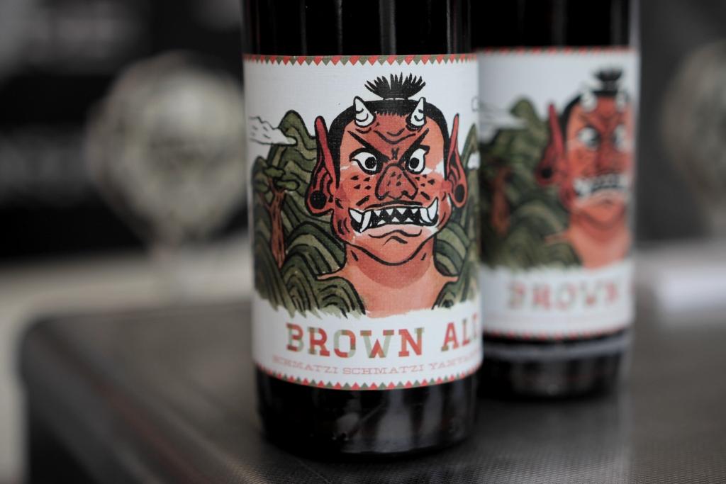 Und auch das Brown Ale Etikett kann sich sehen lassen (Foto: StP)