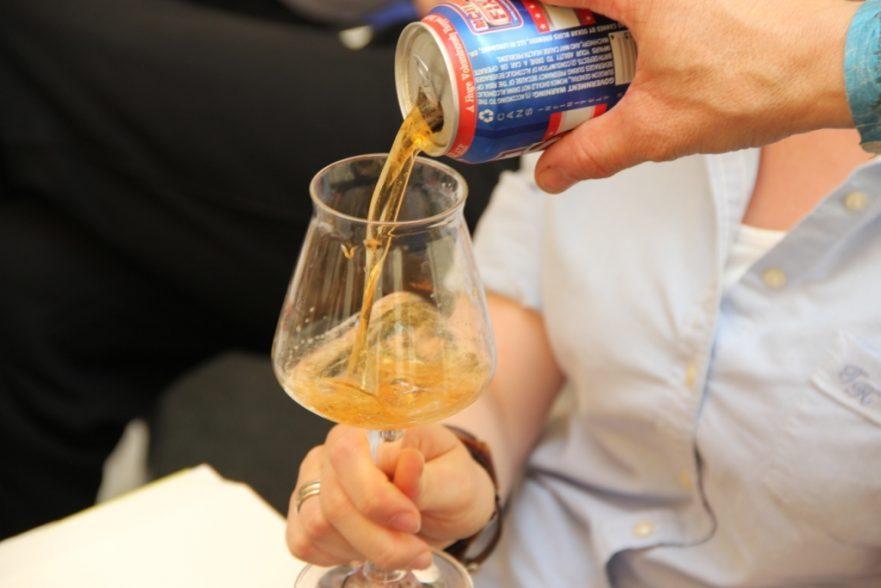 drafting craft beer